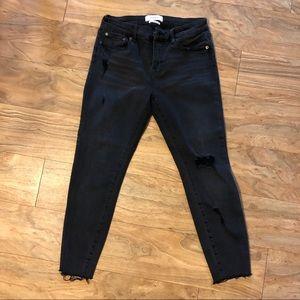 Pistola women's black distressed jeans
